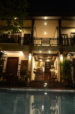 Amata Lanna Hotel at night