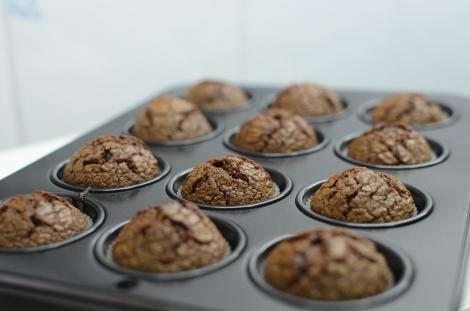 Nutella Brownies: Mini Muffin