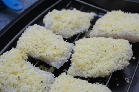 Parmesan Crusted Fish: Rack