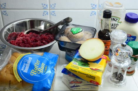 Sliders ingredients