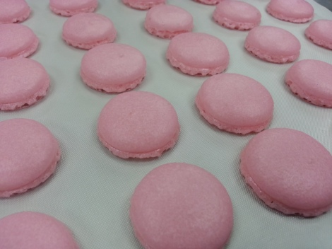 Macaron After baking in the oven